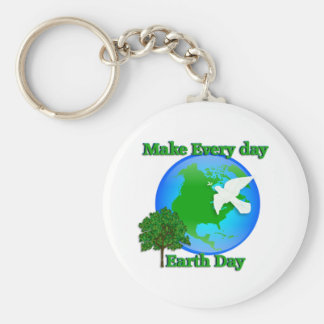 Earth day Make Every Day Earth Day 3D graphic Keychain