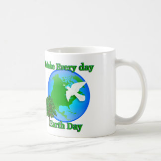 Earth day Make Every Day Earth Day 3D graphic Coffee Mugs