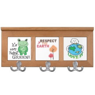Earth Day Message Coat Rack