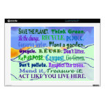 earth day message collage laptop decals