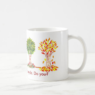 Earth Day Mug,Trees know how to recycle. Do you?