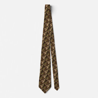 Earth Day Nature Brown Khaki Trees Forests Neck Tie