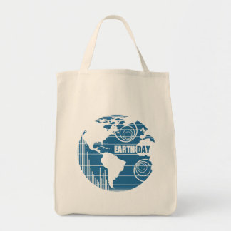 Earth Day Nature Frienly and Organic Grocery Tote Bag