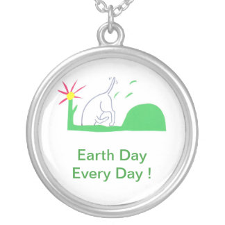 Earth Day Necklace Dog Digging