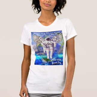 earth day no place like home spaceman tshirt
