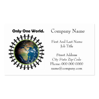 Earth Day Only One World Planet Earth Photo Business Card