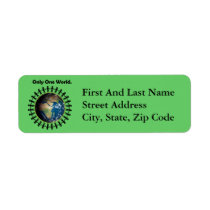 Earth Day Only One World Planet Earth Photo Label