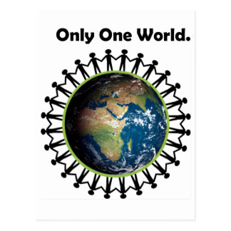 Earth Day Only One World Planet Earth Photo Postcard