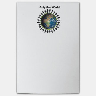 Earth Day Only One World Planet Earth Photo Post-it® Notes