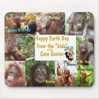 Earth Day Orangutans Borneo Sumatra Mouse Pad