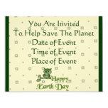 Earth Day Owl 4.25x5.5 Paper Invitation Card