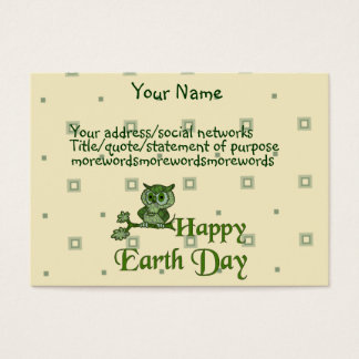 Earth Day Owl Business Card