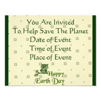 Earth Day Owl Card