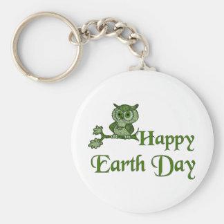 Earth Day Owl Key Chain