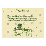 Earth Day Owl Large Business Cards (Pack Of 100)