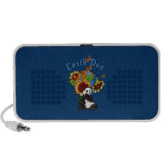 Earth Day Panda Planet Portable Speaker