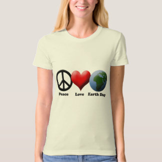 Earth Day, Peace Love Earth Day T-Shirt