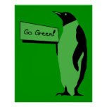 Earth Day Penguin Posters