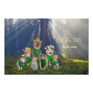 Earth Day Pets Print