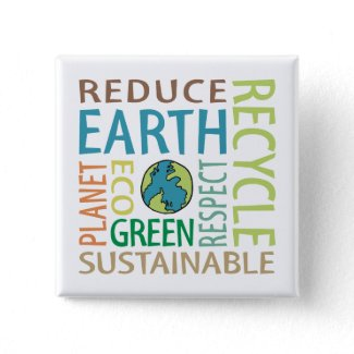 Earth Day Pinback Button