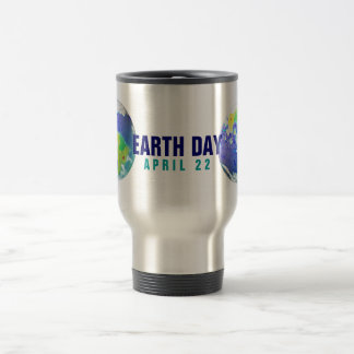 EARTH DAY PLANET ART APRIL 22 15 OZ STAINLESS STEEL TRAVEL MUG