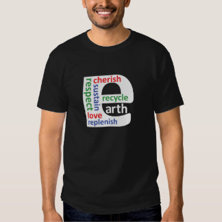 Earth Day Planet E Dark T-shirt by ActionPROS