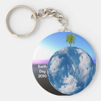 Earth Day Planet Keyring Key Chain