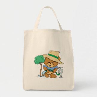 earth day plant a tree teddy bear design tote bag