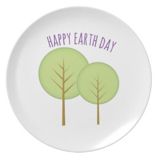 Earth Day Party Plate