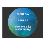 EARTH DAY - postcard