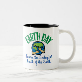 Earth Day Preserve Two-Tone Coffee Mug
