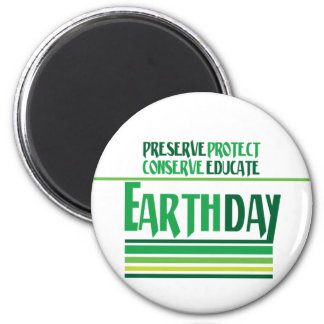 Earth Day Protect 2 Inch Round Magnet