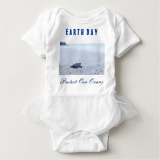 """Earth Day """"Protect Our Oceans"""" Baby Bodysuit"""