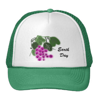 Earth Day. purple grapes and green leaves Trucker Hat