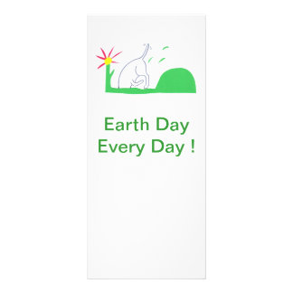 Earth Day Rack Card Dog Digging