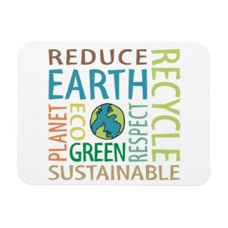 Earth Day Rectangular Magnet