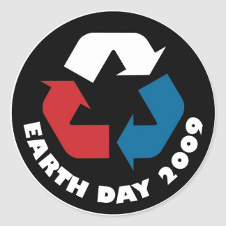 Earth Day Recycle Sticker