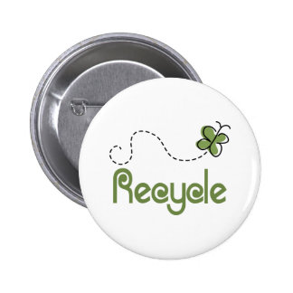 Earth Day Recycle T-shirt Pinback Button