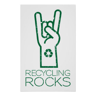 Earth Day: Recycling Rocks! Poster