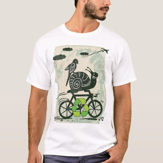 Earth Day Recycling Snail T-Shirt