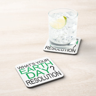 Earth Day Resolution Beverage Coaster