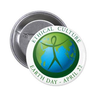 Earth Day Round Button 2 Inch Round Button