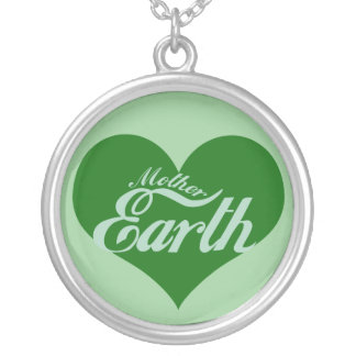 Earth Day Round Pendant Necklace