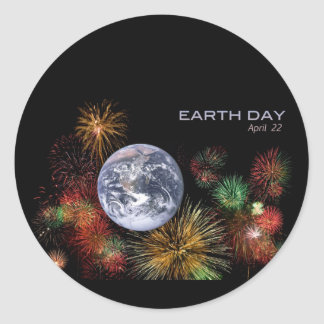 Earth Day Round Sticker