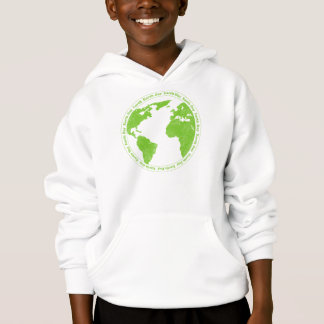 Earth Day Rubber Stamp KIds Hoodie