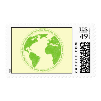 Earth Day Rubber Stamp Postage Stamp