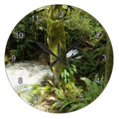 Earth Day Scenic Forest & Stream Nature Clock