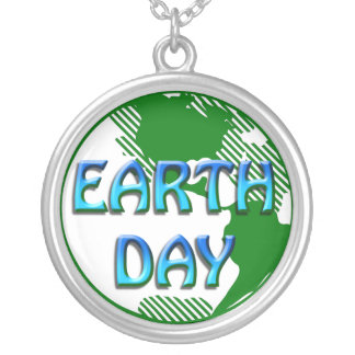 Earth Day  - Silver Plated Necklace