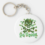 Earth Day Skull Key Chains