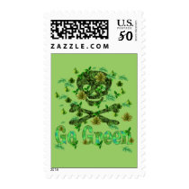 Earth Day Skull Postage